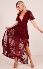 Love Spell Maxi dress in wine