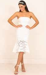 Love Vibes Dress in White Lace