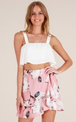 Love You Better skirt in blush floral