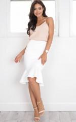 Magnetic Skirt in White