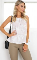 Make Me Move top in beige print