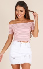 Malibu Sunset skirt in white