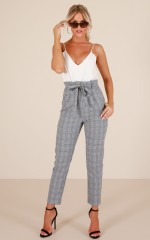 Management Pants in Grey Check