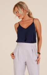 Merger Top in Navy