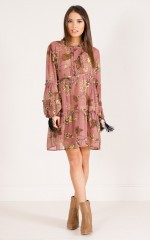 Mind Of Mine dress in blush print