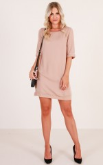Miss Independent dress in mocha
