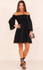 Moon Dusk dress in black