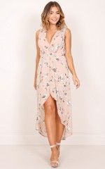Morning To Night dress in blush floral