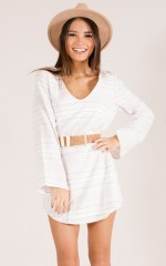 No Hesitation Dress in white