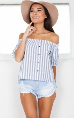 Nobody But Me top in navy stripe
