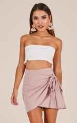 Not Happening skirt in blush