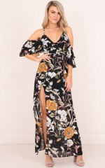 Notice You maxi dress in black floral