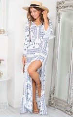 Endless Journey maxi dress in navy paisley