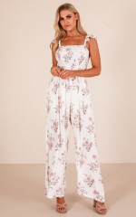 Oceanview jumpsuit in white floral