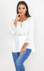 Only Exception Top in white