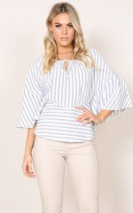 Out Of The Box top in white stripe