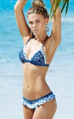 Panorama Bikini in navy bandana print