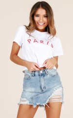 Paris Is For Lovers top in white