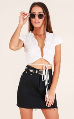 Party Starter Top in White