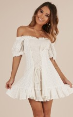 Proud Moments dress in white linen look