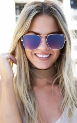 Quay - Stop And Stare sunglasses in gold and brown