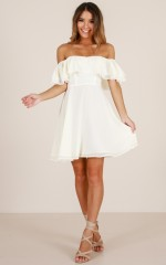 Rhapsody dress in cream