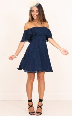 Rhapsody Dress in Navy