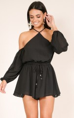 Rochester playsuit in black