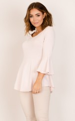 Rosebud top in blush