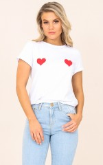 Same Old Love top in white