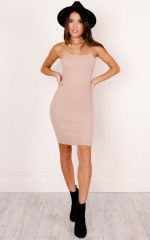 Sash knit dress in blush