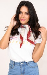 Sawyer neck scarf in red print