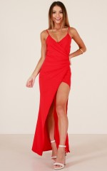 Scarlet Days maxi dress in red