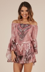 Set Me Free Playsuit in dusty pink