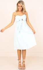 She Says dress in pale blue