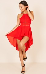 Good To You playsuit in red