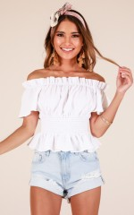 Simply Sweet top in white