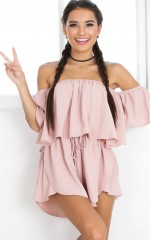 Slap Me Silly playsuit in blush
