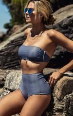 So Fine Bikini Top in  slate