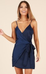 Someone New dress in navy
