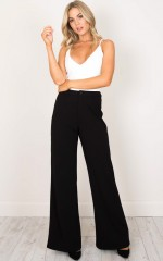 Speak Up Pants in black