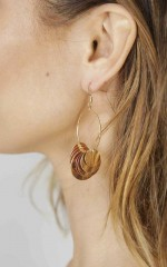 Spiced Honey earrings in gold