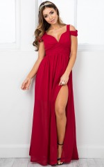 Stand Close dress in red