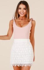 Star Power skirt in white crochet