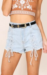 All Stars denim shorts in light wash