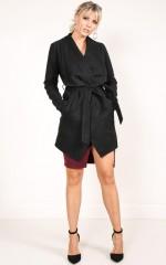 Step Inside Coat in Black