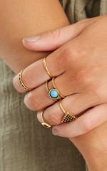 Stevie ring set in gold