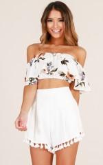 Summer set shorts in white
