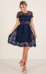 Sunday Love dress in navy crochet