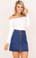 Sunny Morning crop top in white